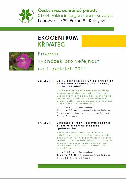 pozvánka vycházky první pololetí 2011