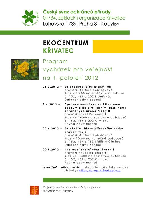 Program vycházek 1.pololetí 2012