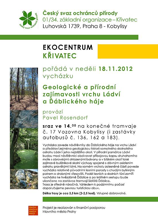 vycházka Geologické a přírodní zajímavosti vrchu Ládví